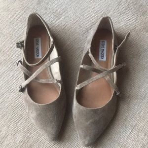 Strappy suede flats by Steve Madden